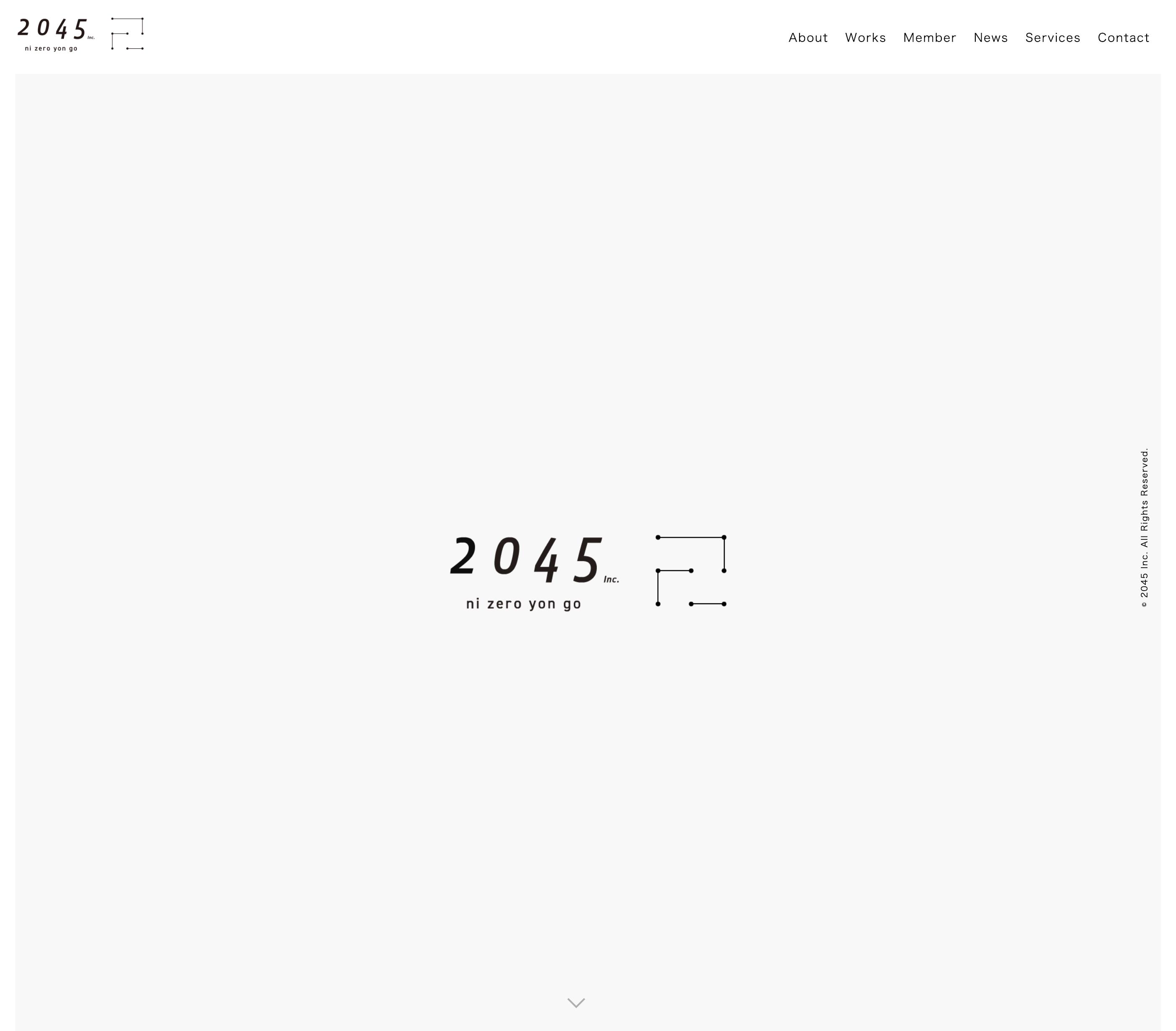 2045株式会社コーポレートサイト by シングメディア